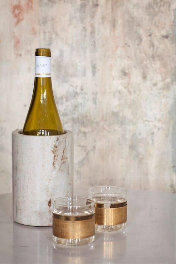 Serax Waterglas met koperen band 7cmH