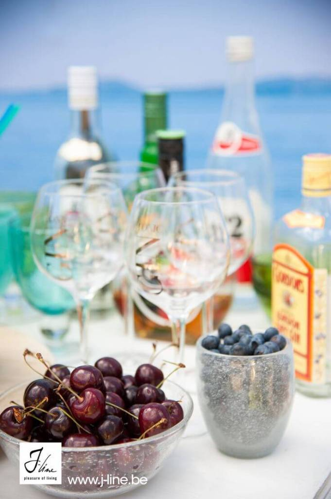 J-Line Drinkglas bol Gin op voet