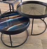 Notre monde Tray glass Indigo Organic