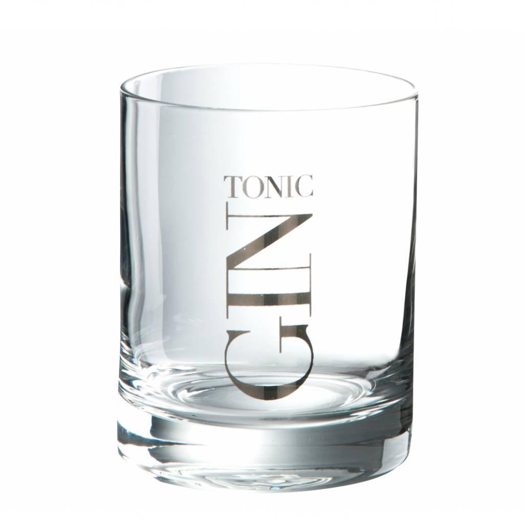 J-Line drinkglas Gin tumbler laag