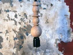 Un Esprit en Plus Draadlamp hout & zwart
