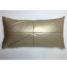 Made by Mimi Kussen leder goud 48x25