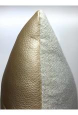 Made by Mimi Kussen leder goud