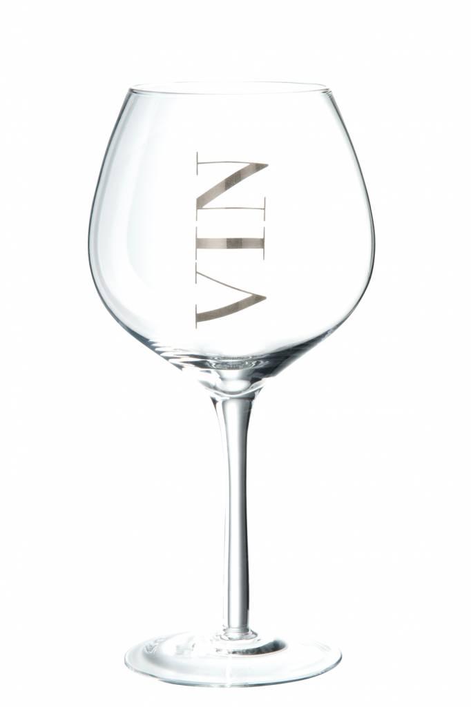 J-Line Wijnglas rood