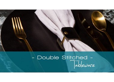 Double Stitched, lederen placemats & tableware