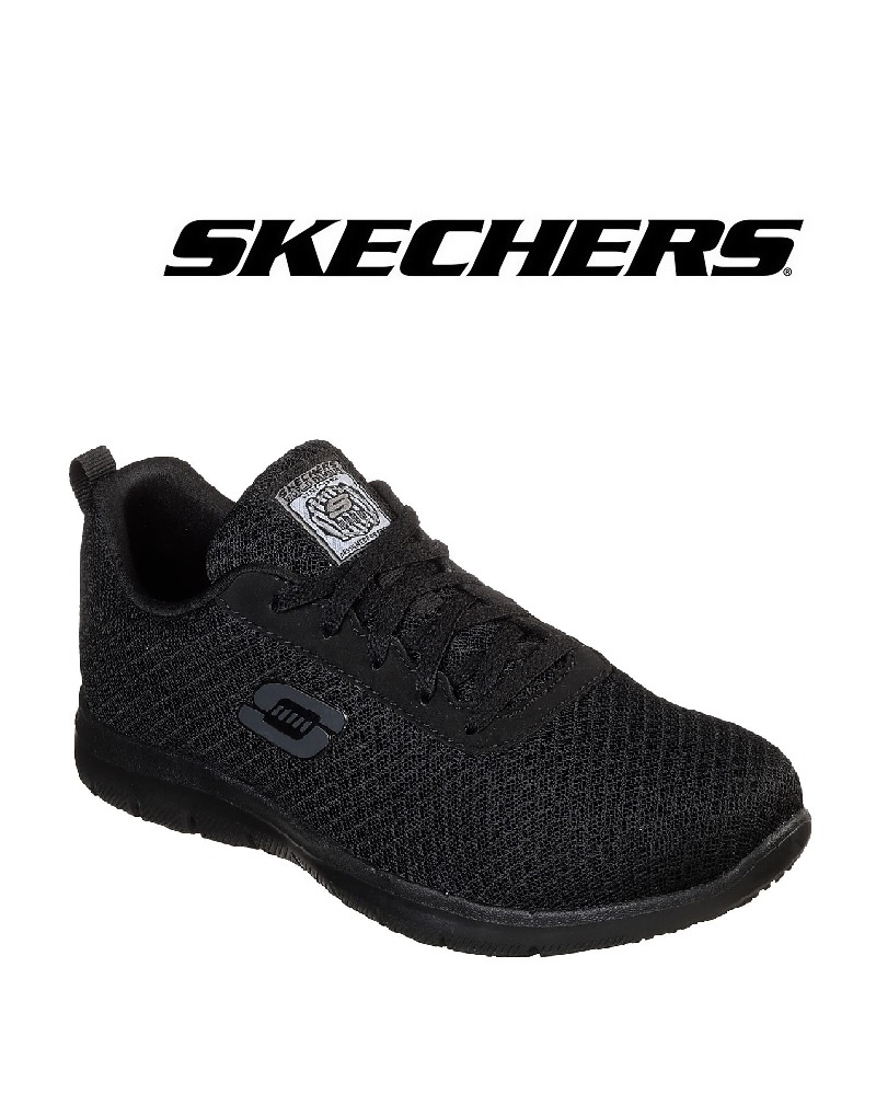 Skechers 77210 EC BLK - Berufsschuh für Damen