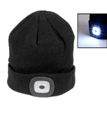 Beanie LED Headlight 150lm, black, Mütze mit LED Licht