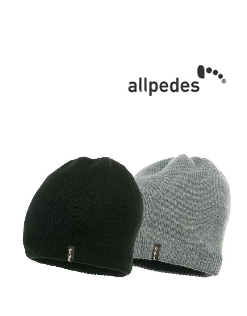 Allpedes Allpedes, Dexshell hat Beanie Solo, Wasserfest, schwarz und grau