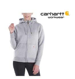 Carhartt Kleider 102788.058 - Damen-Hoodie Regular Fit (Carhartt Relaxed Fit) mit Reißverschluss