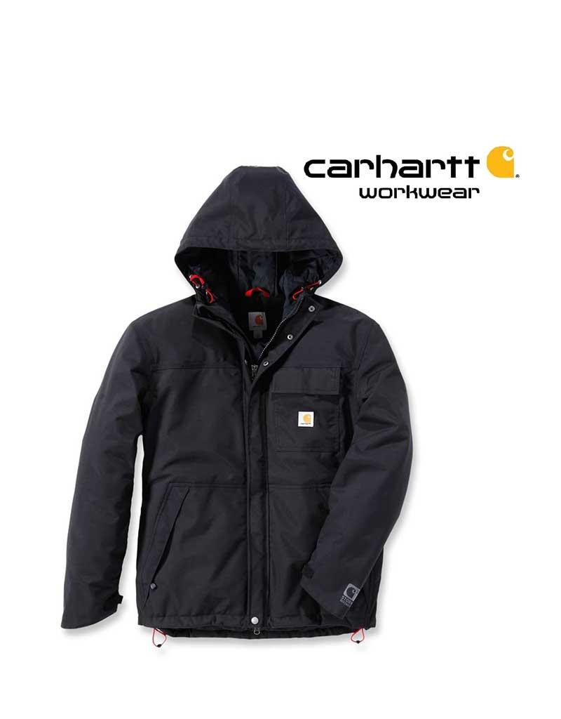Carhartt Kleider Carhartt, Winterjacke Wasserdicht mit Membran, schwarz