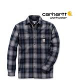 Carhartt Kleider Carhartt, Winterhemd Flanell, 100% Baumwolle, Twilight