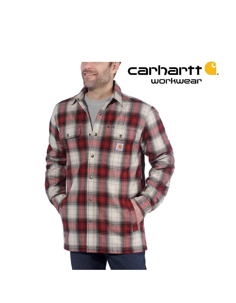 Carhartt Kleider Carhartt, Winterhemd Flanell, 100% Baumwolle, Dark Crimson