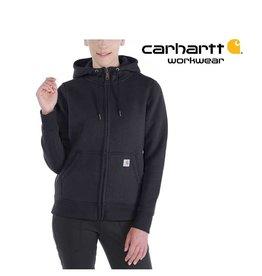 Carhartt Kleider 102788.001 - Damen-Hoodie Regular Fit (Carhartt Relaxed Fit) mit Reißverschluss - Copy