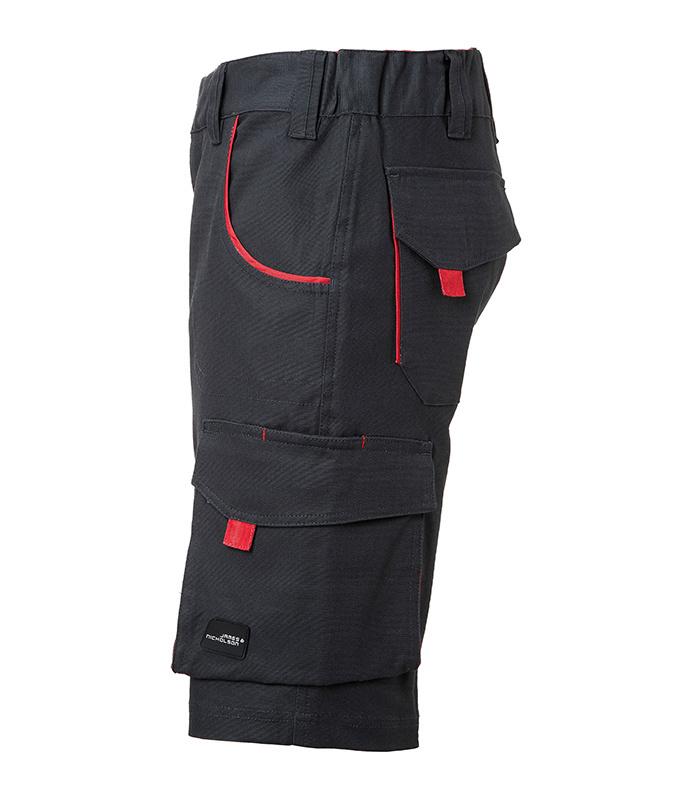 James Nicholson Workwear Bermudas - COLOR - (carbon/red)