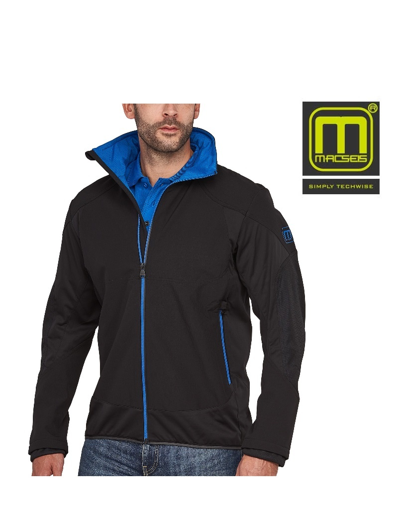 Macseis MS40009 black blue - Softshelljacke von Macseis