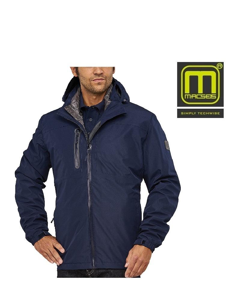 Macseis Macseis, 3 in 1 Jacke, Unisex, blau grau