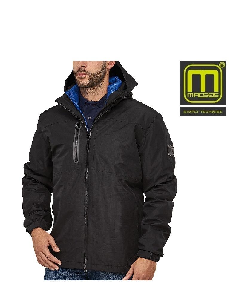 Macseis Macseis, 3 in 1 Jacke, Unisex,schwarz blau