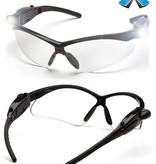 Pyramex ESB6310STPLED Schutzbrille mit 2 lichtstarken LED-Batterieleuchten