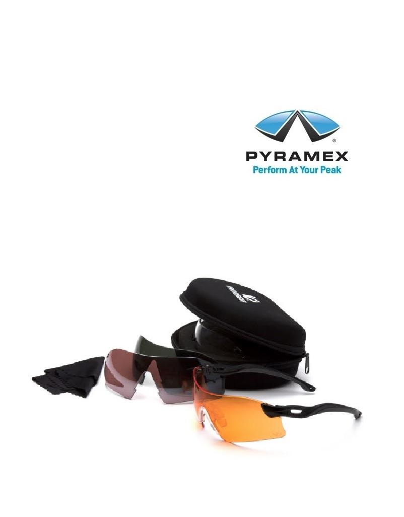 Pyramex EVGSB88KIT - Schutzbrillenset mit 4 Wechselscheiben von Pyramex