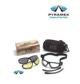 Pyramex EGB4010KIT - Schutzbrille - auswechselbare Sichtscheibeneinsätze in 3 verschiedenen Tönungen