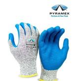 Pyramex GL501C5 - Strickhandschuhe granit-blau, die Handfläche aus Knitterlatex