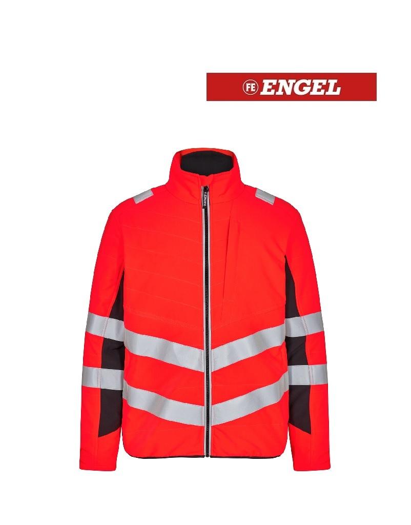 Engel FE1159.4720 K.S - Stepp-Innenjacke, EN20741, Klasse 2, Leuchtrot mit Schwarz