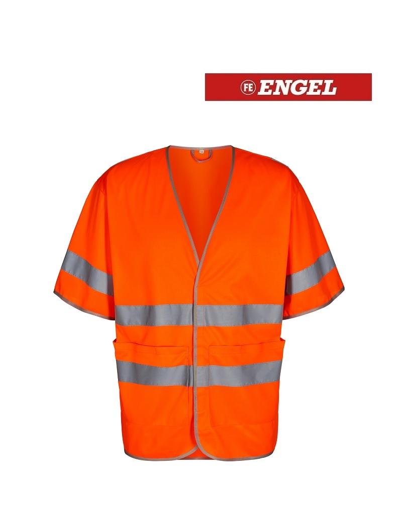 Engel FE5048.10.S - Warnweste mit Ärmeln, EN 20471 KL. 3, orange