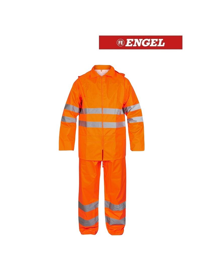 Engel 1916.218.10.S Regenkombi, EN 20471 Kl. 3, Orange von Engel