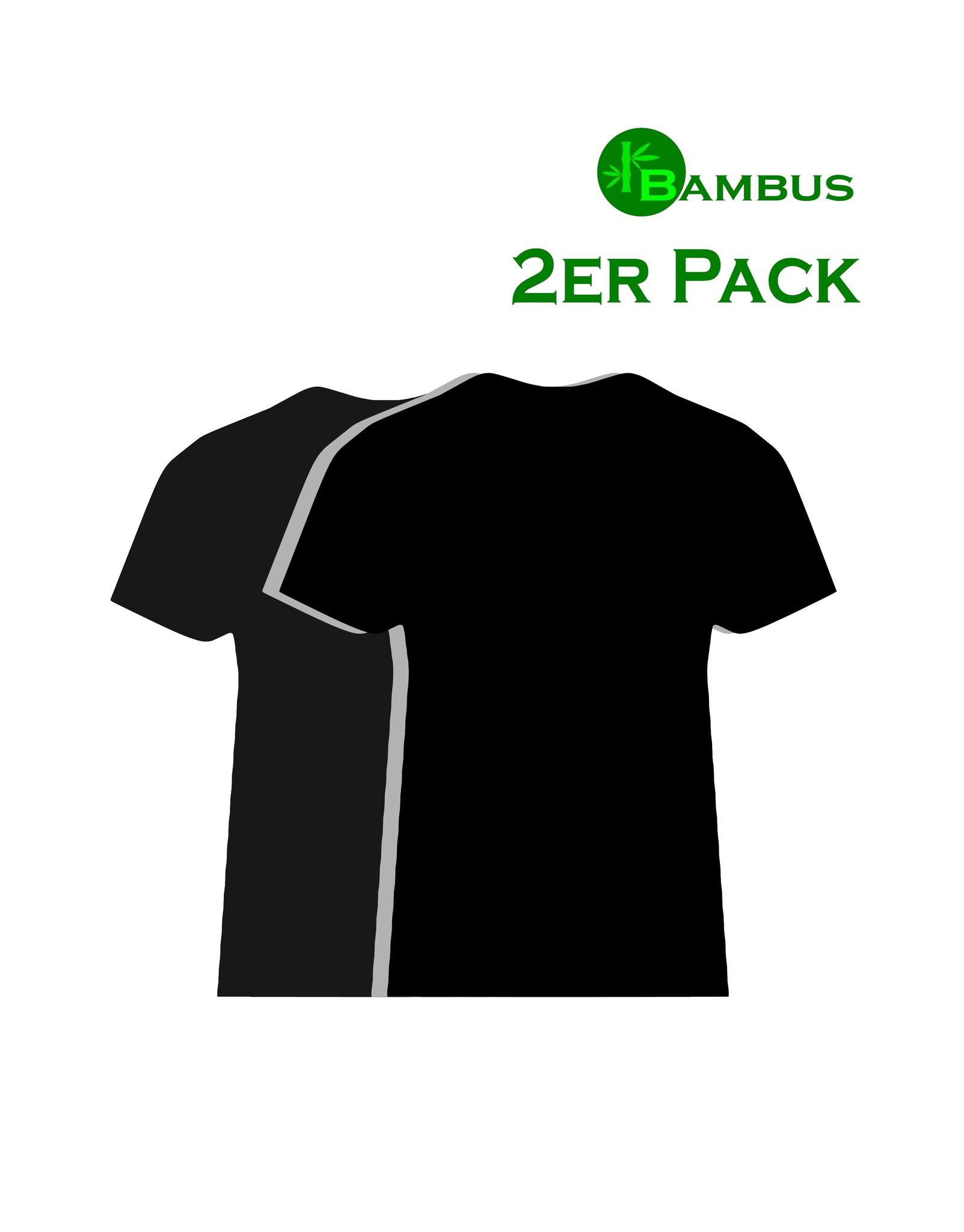 Bambus Kneuss Qualität Bambus T-Shirt, schwarz 2er Pack in Kneuss Qualität