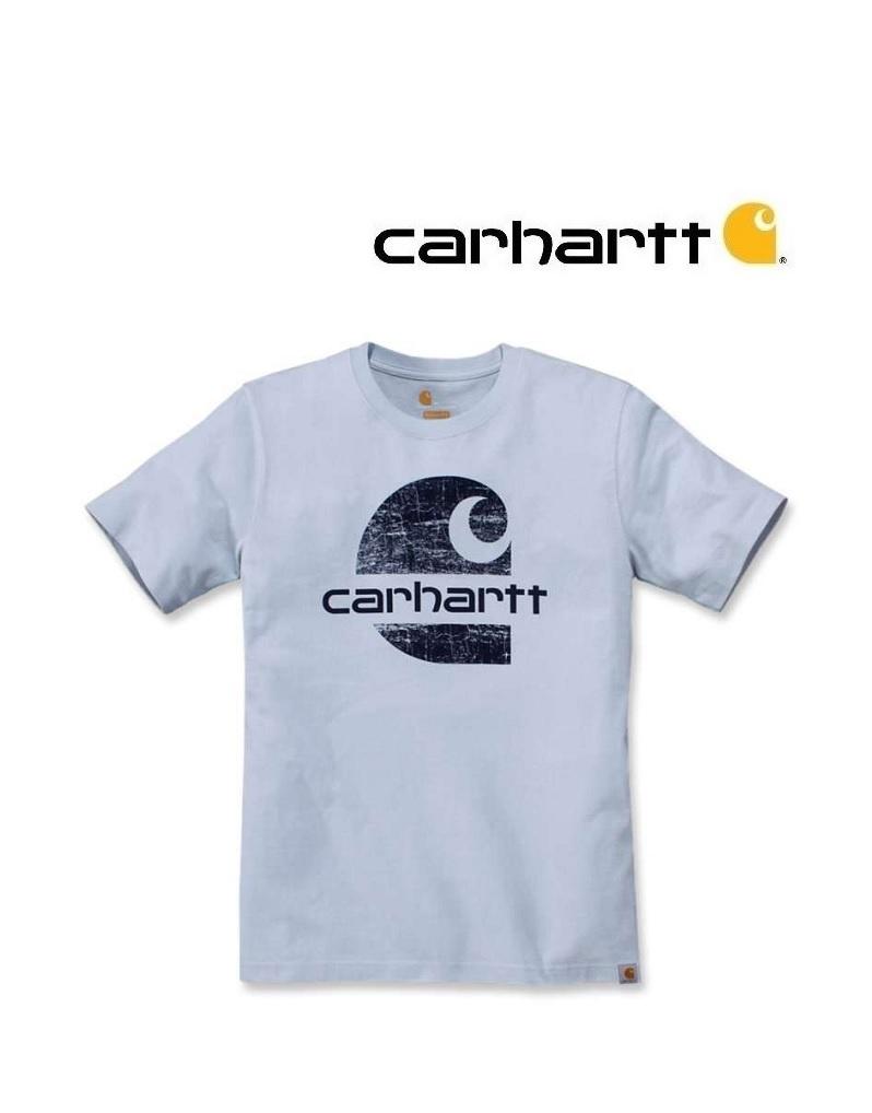 Carhartt Kleider 104362.I20- T-Shirt Soft blue