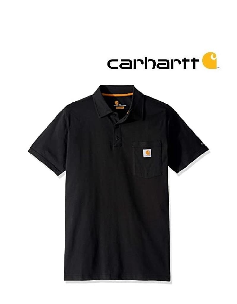 Carhartt Kleider 103569.001 Black FORCE COTTON DELMONT POCKET POLO - Copy