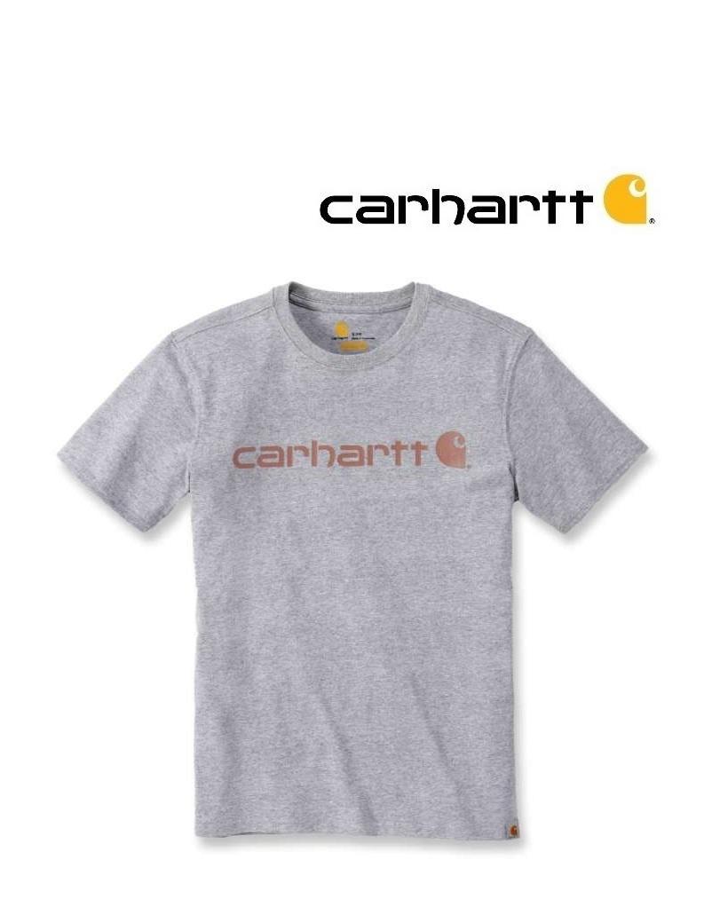 Carhartt Kleider 103592.034 T-shirt, Damen, Kurzarm , Grau, Print von Carhartt