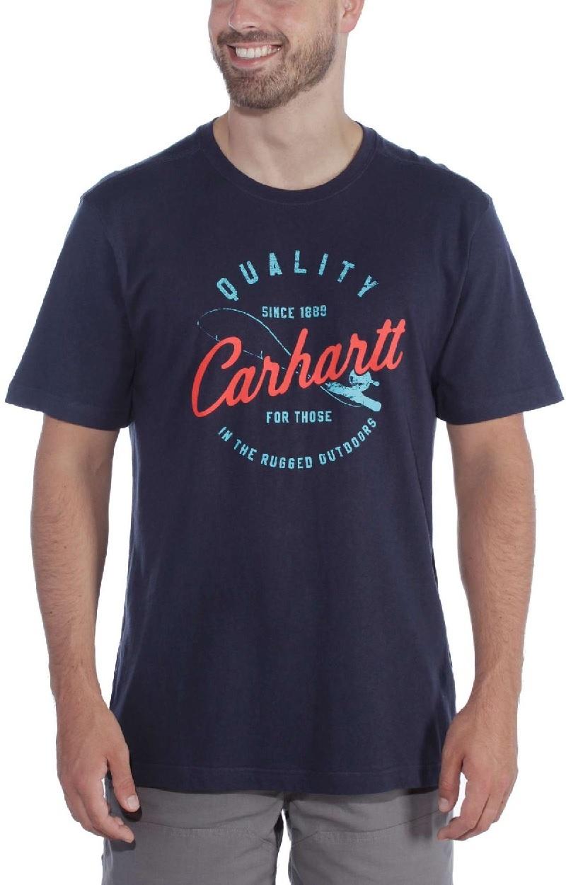 Carhartt Kleider 104265.l26 Herren T-Shirt Southern Graphic Navy