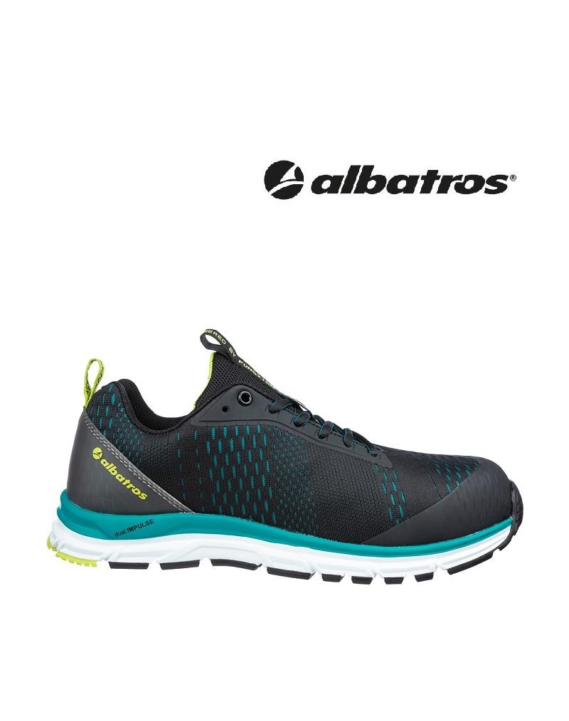 Albatros Schuhe 647500 S1P -  AER55 IMPULSE BLACK BLUE LOW S1P