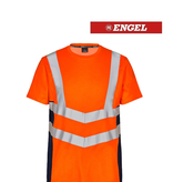 Engel 9544.182.10165 K.S - T-Shirt Kurzarm, EN 20471 Kl. 2, Orange-Navy
