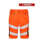 Engel FE6545.1079 - Warnschutzhose kurz, EN 20741 Klass 2, orange-grau