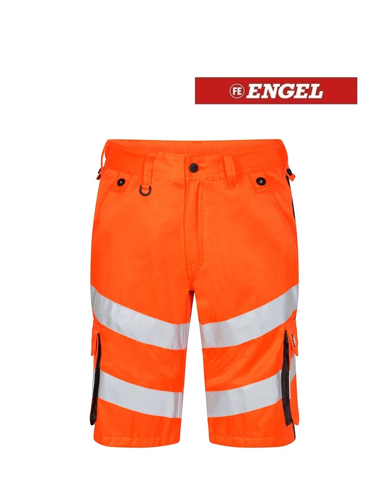 Engel FE6545.319.1079 - Warnschutzhose kurz, EN 20741 Klass 2, orange-grau