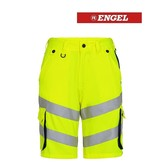 Engel FE6545.319.38165 - Warnschutzhose kurz, EN 20741 Klass 2, gelb-blau