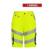 Engel FE6545.38165 - Warnschutzhose kurz, EN 20741 Klass 2, gelb-blau