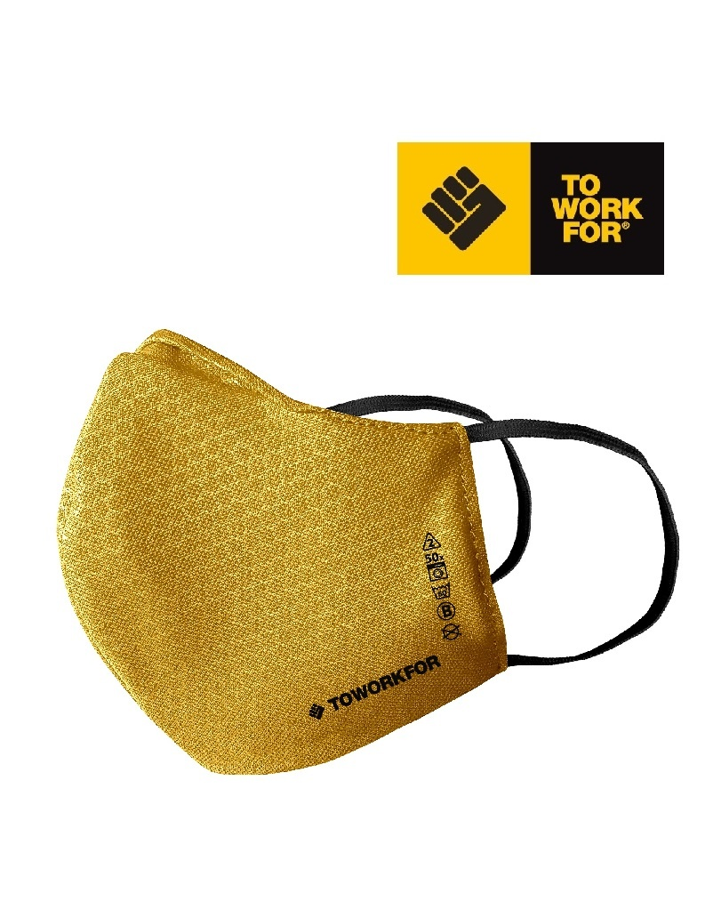 To Work For Mask01.06 Gelb Zertifizierte Maske