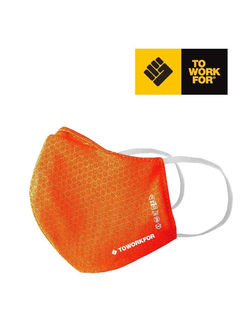To Work For Mask01.15  Orange Für KINDER - COVID19 Maske