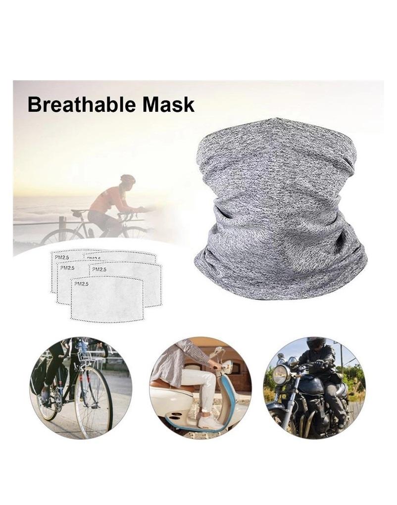 Tube Filter - Schal Maske mit Filtereinsatz, verschiedene Farben