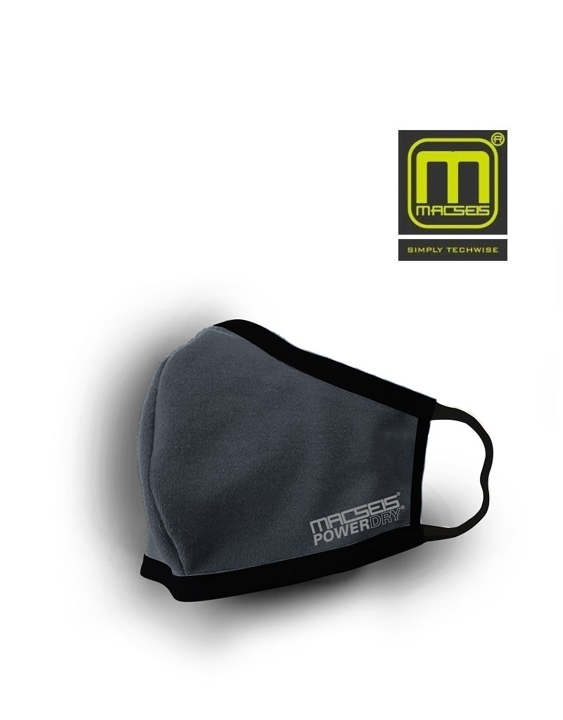 Macseis MCM00017 Grey - schnelltrocknende Behelfsmaske