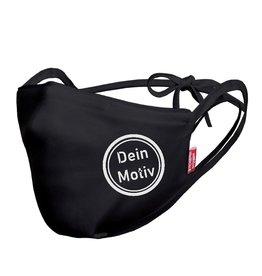 Kneuss Kleider Behelfsmasken BM-01 schwarz Logo