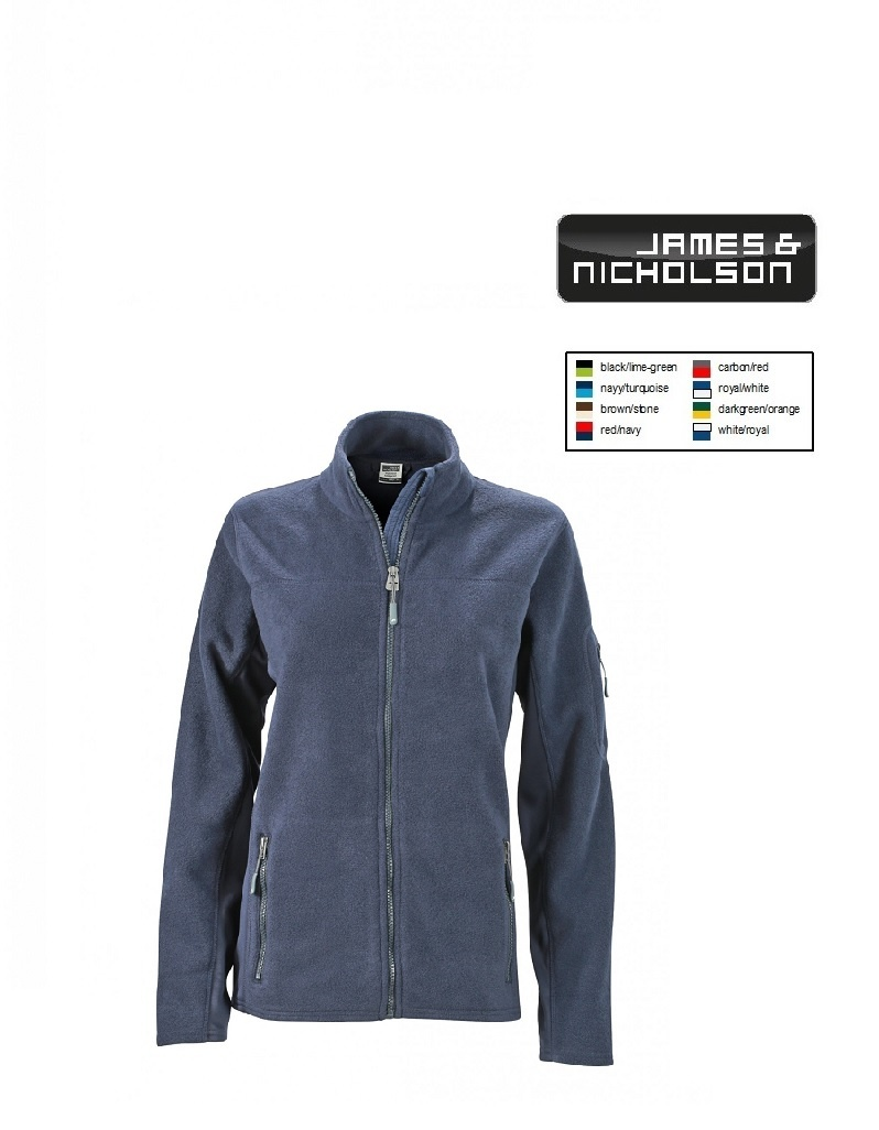 James Nicholson JN841 Navy -Damen-Workwear Fleece Jacket (navy/navy)