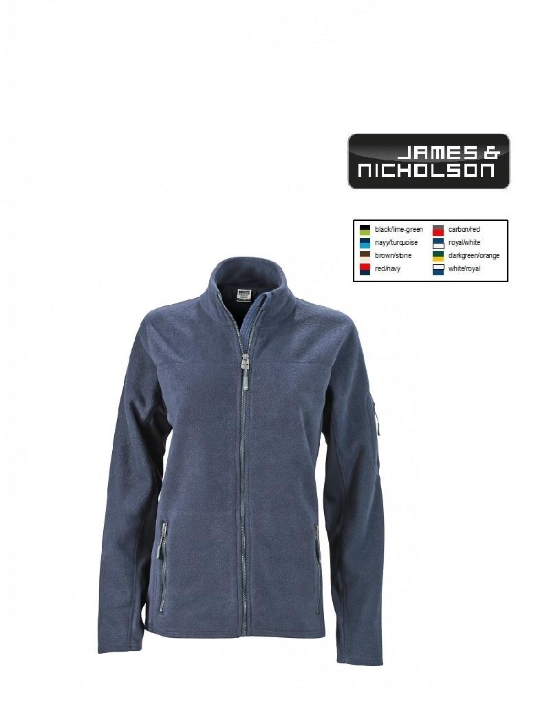 James Nicholson JN841 Navy -Damen-Workwear Fleece Jacket (navy/navy)