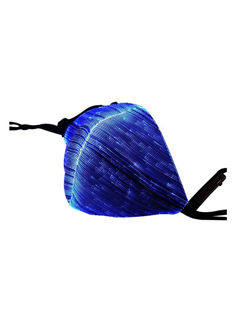 LED Maske blau wiederaufladbar