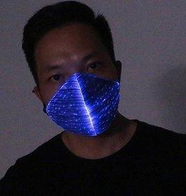 LED Maske blau