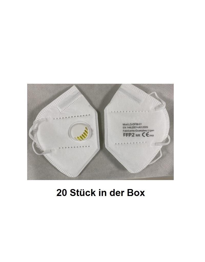 LG DGM 01 Box - Atemmaske, FFP2 mit Ventil, in 20er Box