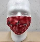 Kneuss Kleider Vichy-01 - Maske aus Nicky-Tuch, farbig bedruckt